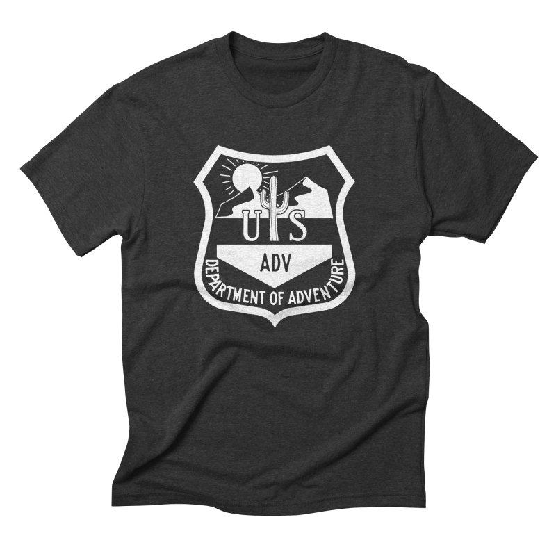 Dept. of Adventure - Desert (Inverted) Men's Triblend T-Shirt by CLINTZERO ONLINE SHOP