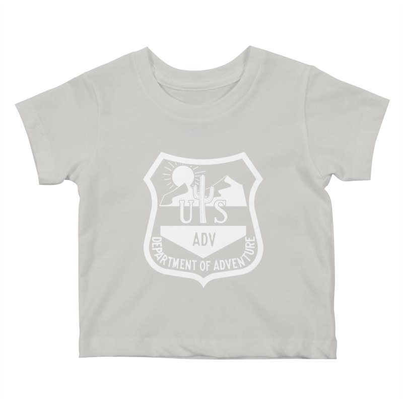 Dept. of Adventure - Desert (Inverted) Kids Baby T-Shirt by CLINTZERO ONLINE SHOP