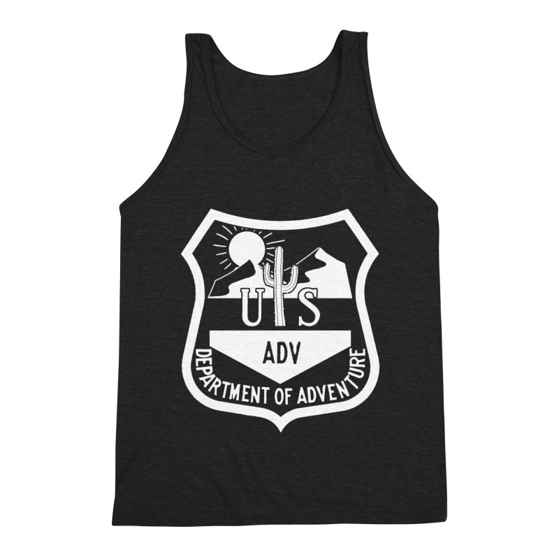 Dept. of Adventure - Desert (Inverted) Men's Triblend Tank by CLINTZERO ONLINE SHOP