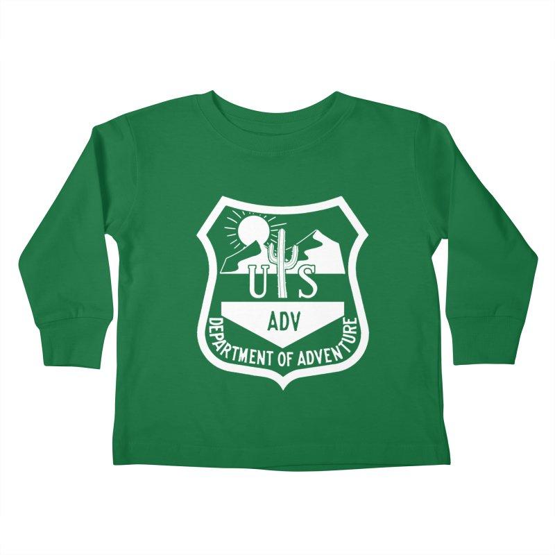 Dept. of Adventure - Desert (Inverted) Kids Toddler Longsleeve T-Shirt by CLINTZERO ONLINE SHOP