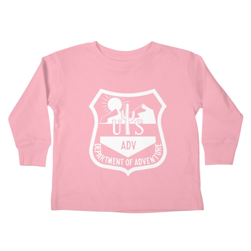 Dept. of Adventure - Desert (Inverted) Kids Toddler Longsleeve T-Shirt by CLINTZERO ONLINE SHOP