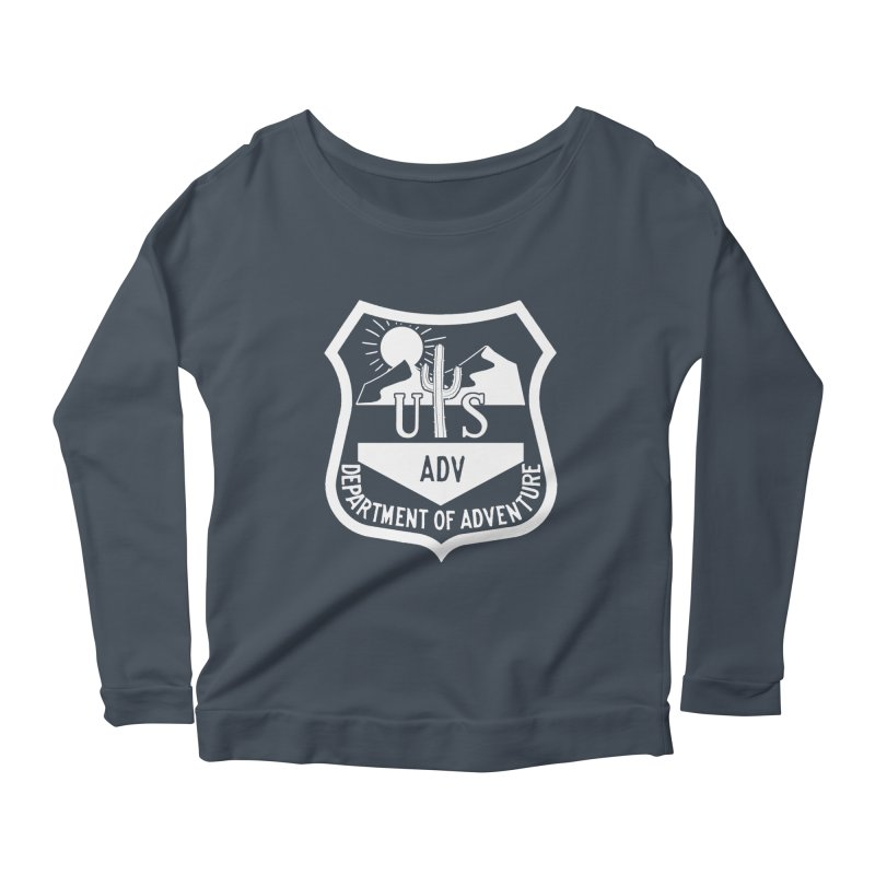 Dept. of Adventure - Desert (Inverted) Women's Longsleeve Scoopneck  by CLINTZERO ONLINE SHOP