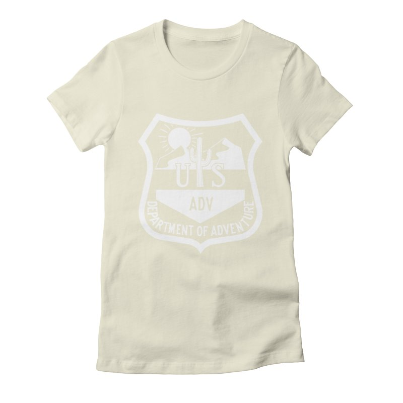 Dept. of Adventure - Desert (Inverted) Women's Fitted T-Shirt by CLINTZERO ONLINE SHOP