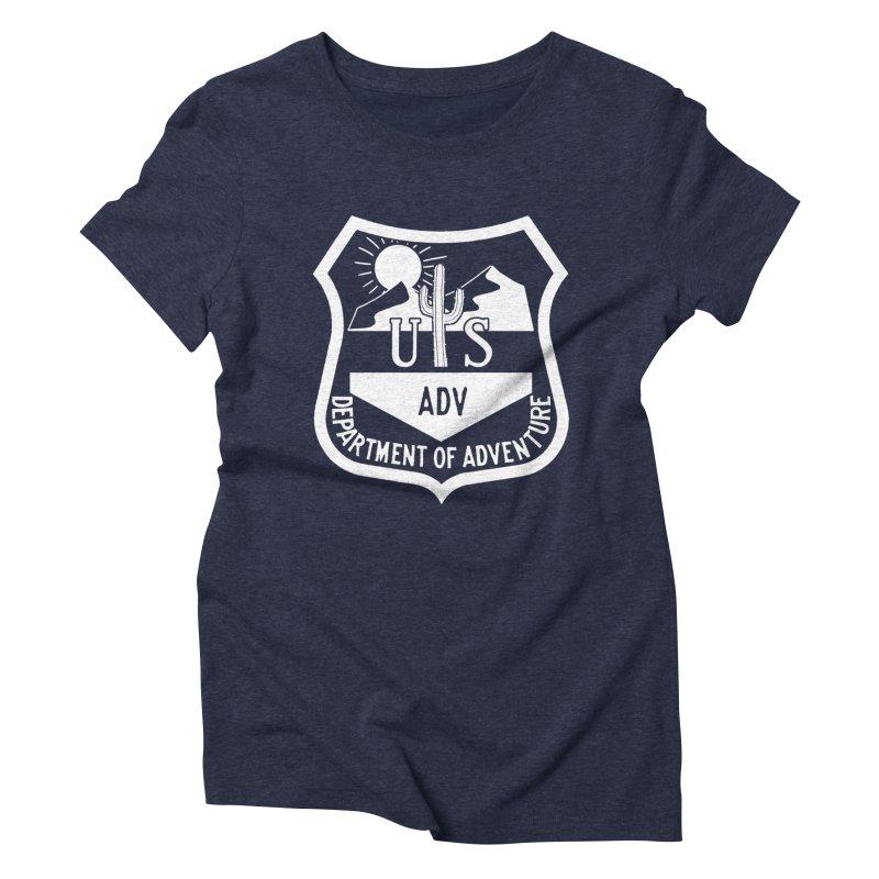 Dept. of Adventure - Desert (Inverted) Women's Triblend T-Shirt by CLINTZERO ONLINE SHOP