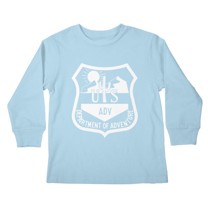 Dept. of Adventure - Desert (Inverted) Kids Longsleeve T-Shirt by CLINTZERO ONLINE SHOP