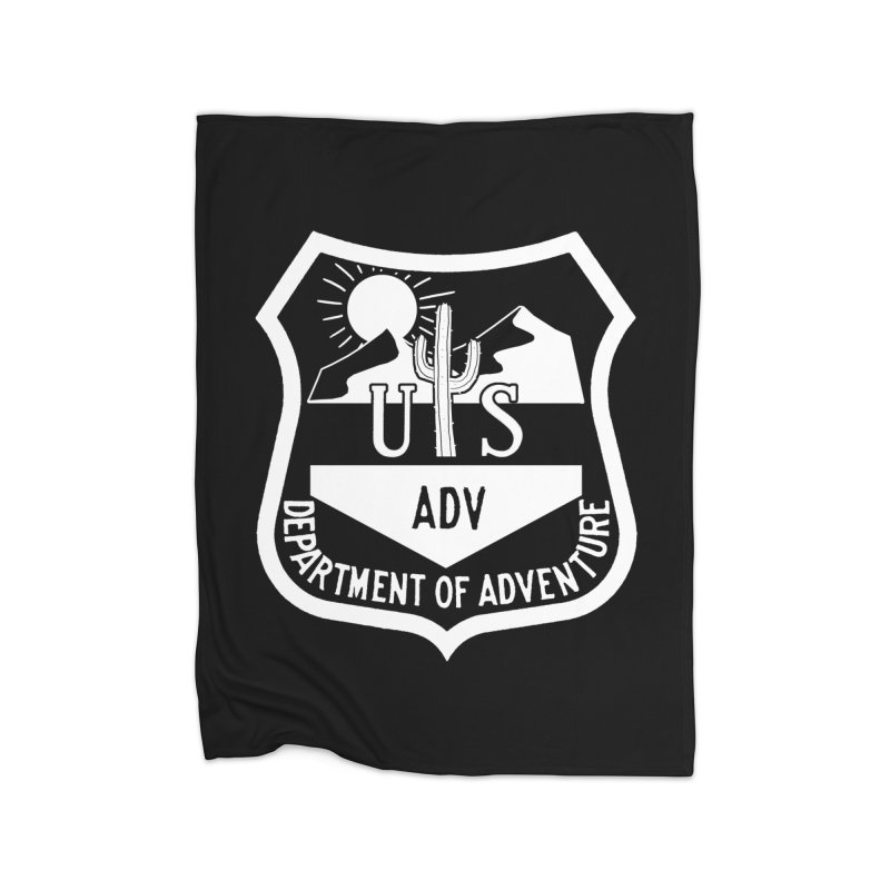 Dept. of Adventure - Desert (Inverted) Home Fleece Blanket Blanket by CLINTZERO ONLINE SHOP