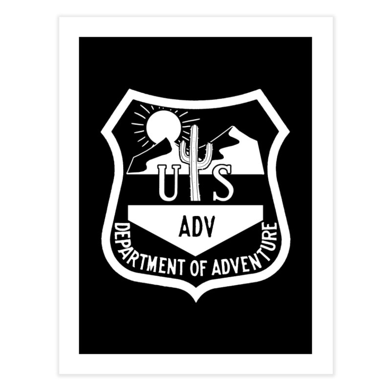 Dept. of Adventure - Desert (Inverted) Home Fine Art Print by CLINTZERO ONLINE SHOP