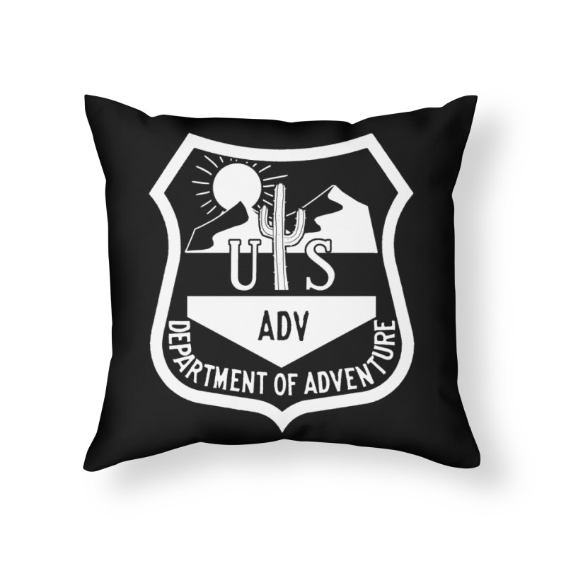 Dept. of Adventure - Desert (Inverted) Home Throw Pillow by CLINTZERO ONLINE SHOP