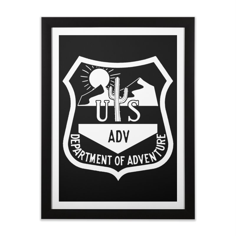 Dept. of Adventure - Desert (Inverted) Home Framed Fine Art Print by CLINTZERO ONLINE SHOP