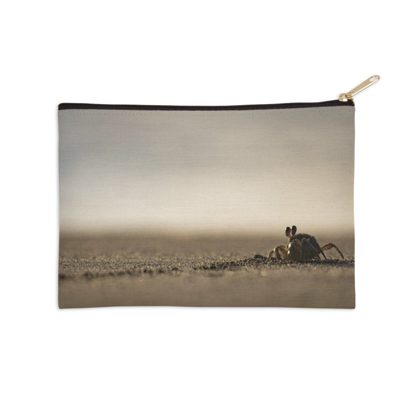 Pallid Ghost Crab Accessories Zip Pouch by CLINTZERO ONLINE SHOP
