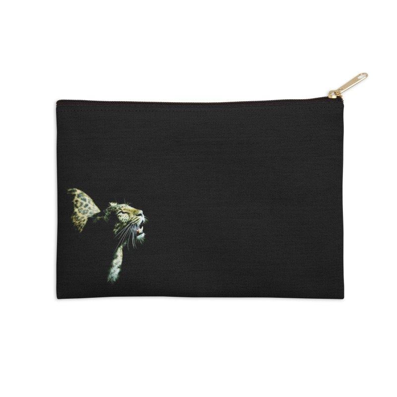 Leopard Blackout Accessories Zip Pouch by CLINTZERO ONLINE SHOP