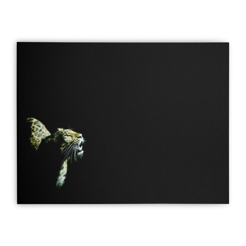Leopard Blackout Home Stretched Canvas by CLINTZERO ONLINE SHOP