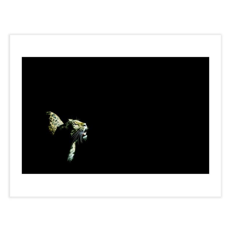 Leopard Blackout Home Fine Art Print by CLINTZERO ONLINE SHOP
