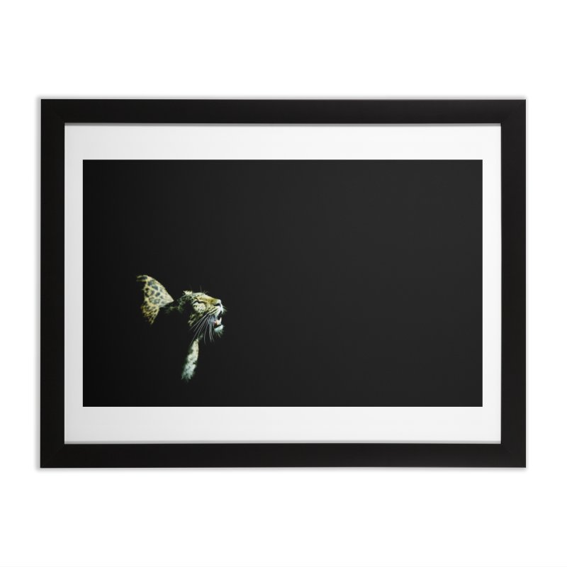 Leopard Blackout Home Framed Fine Art Print by CLINTZERO ONLINE SHOP