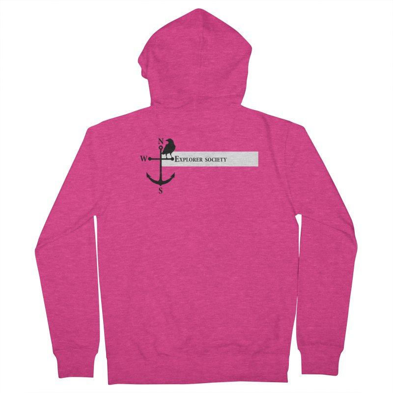 Explorer Society Women's French Terry Zip-Up Hoody by CLINTZERO ONLINE SHOP