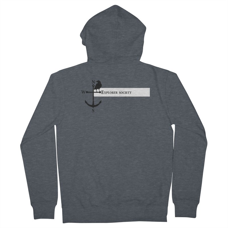 Explorer Society Men's French Terry Zip-Up Hoody by CLINTZERO ONLINE SHOP
