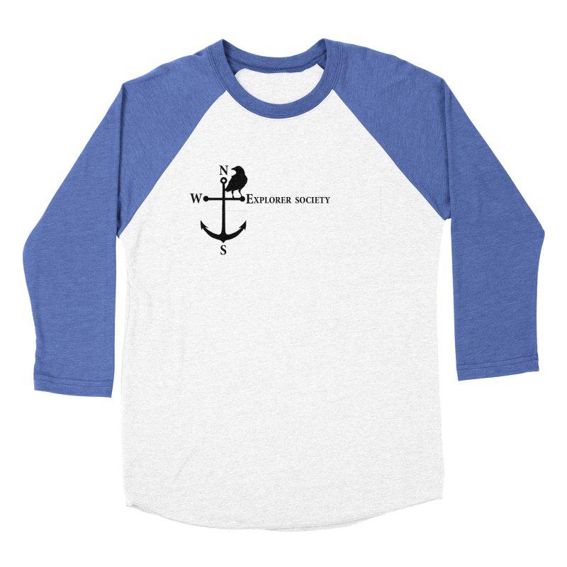 Explorer Society Men's Baseball Triblend T-Shirt by CLINTZERO ONLINE SHOP