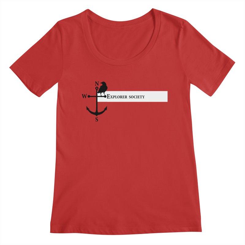 Explorer Society Women's Regular Scoop Neck by CLINTZERO ONLINE SHOP