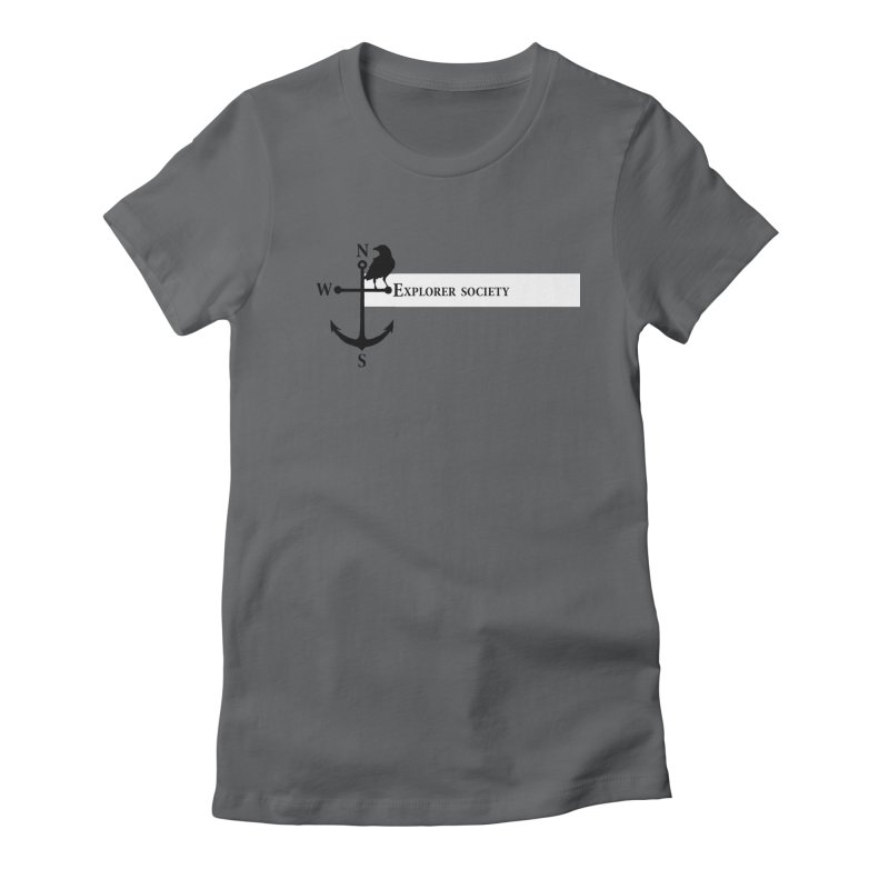 Explorer Society Women's Fitted T-Shirt by CLINTZERO ONLINE SHOP