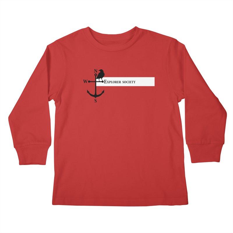 Explorer Society Kids Longsleeve T-Shirt by CLINTZERO ONLINE SHOP
