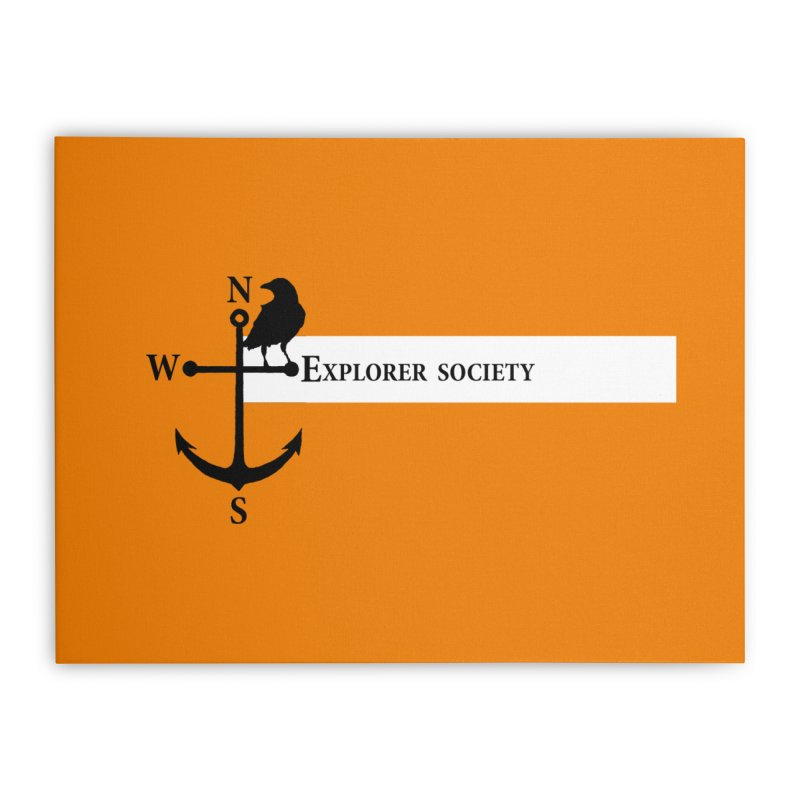 Explorer Society Home Stretched Canvas by CLINTZERO ONLINE SHOP