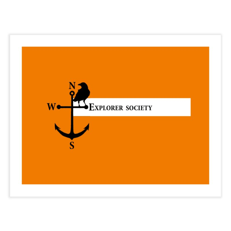 Explorer Society Home Fine Art Print by CLINTZERO ONLINE SHOP
