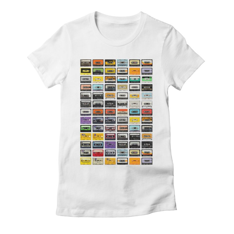 Cassettes Women's Fitted T-Shirt by Clipdepelicula