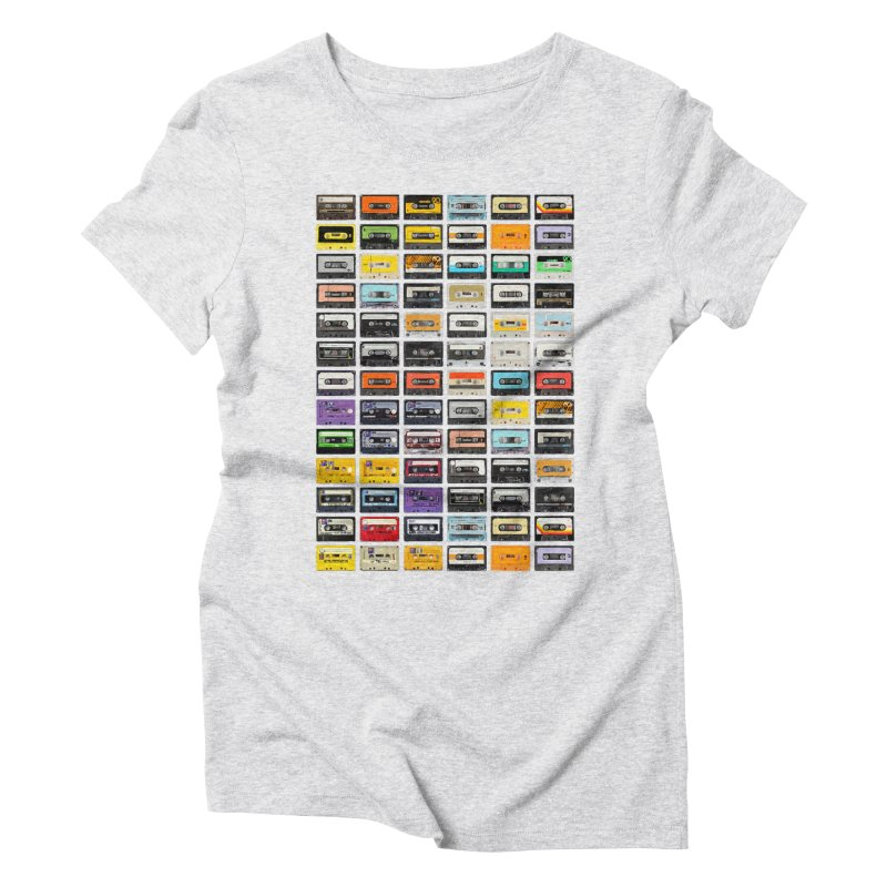 Cassettes Women's Triblend T-Shirt by Clipdepelicula