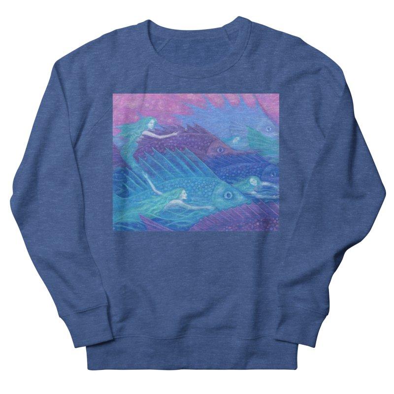 Ocean Nomads, Nautical Fantasy, Mermaids & Fishes, Pink Blue Purple Women's Sweatshirt by Clipso-Callipso