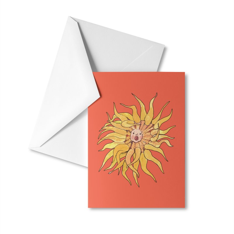 Sea Anemone, Actinia, Marine Creature, Bizarre Surreal Accessories Greeting Card by Clipso-Callipso