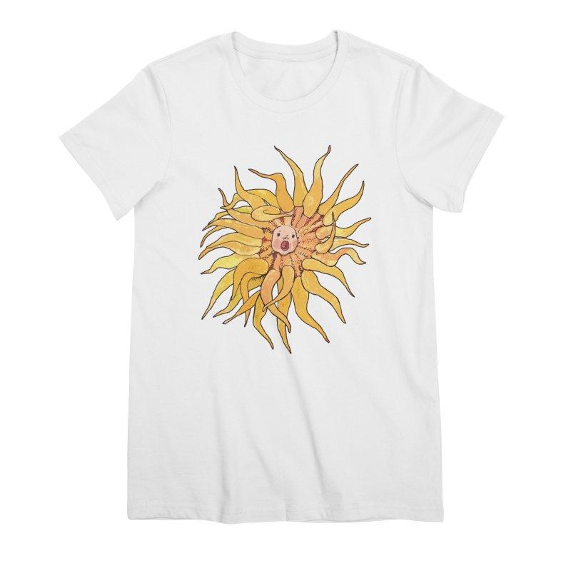 Sea Anemone, Actinia, Marine Creature, Bizarre Surreal Women's T-Shirt by Clipso-Callipso