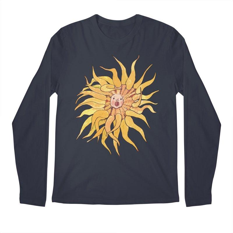 Sea Anemone, Actinia, Marine Creature, Bizarre Surreal Men's Longsleeve T-Shirt by Clipso-Callipso