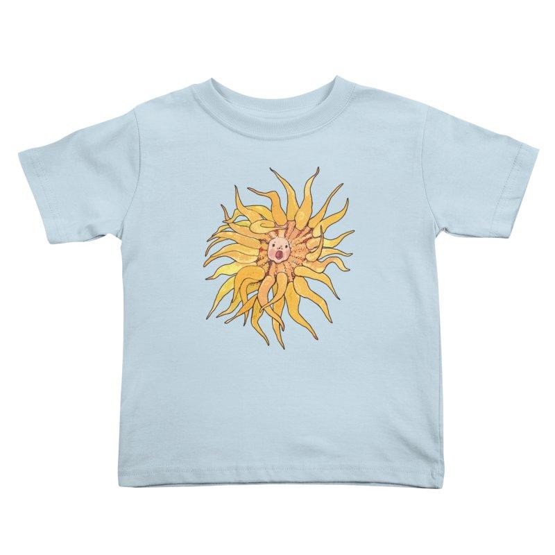 Sea Anemone, Actinia, Marine Creature, Bizarre Surreal Kids Toddler T-Shirt by Clipso-Callipso