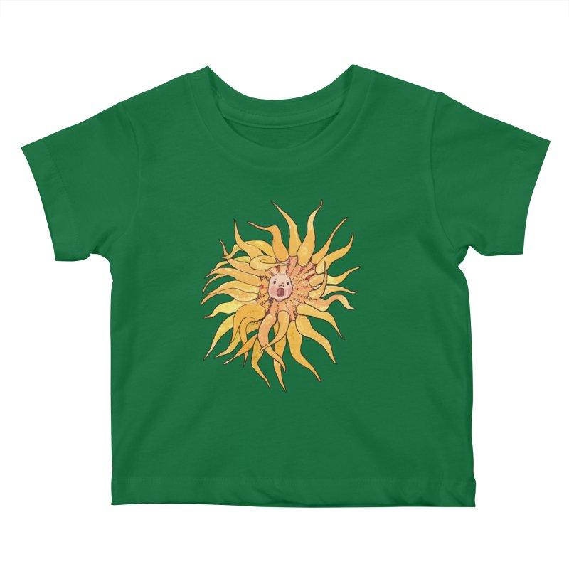 Sea Anemone, Actinia, Marine Creature, Bizarre Surreal Kids Baby T-Shirt by Clipso-Callipso
