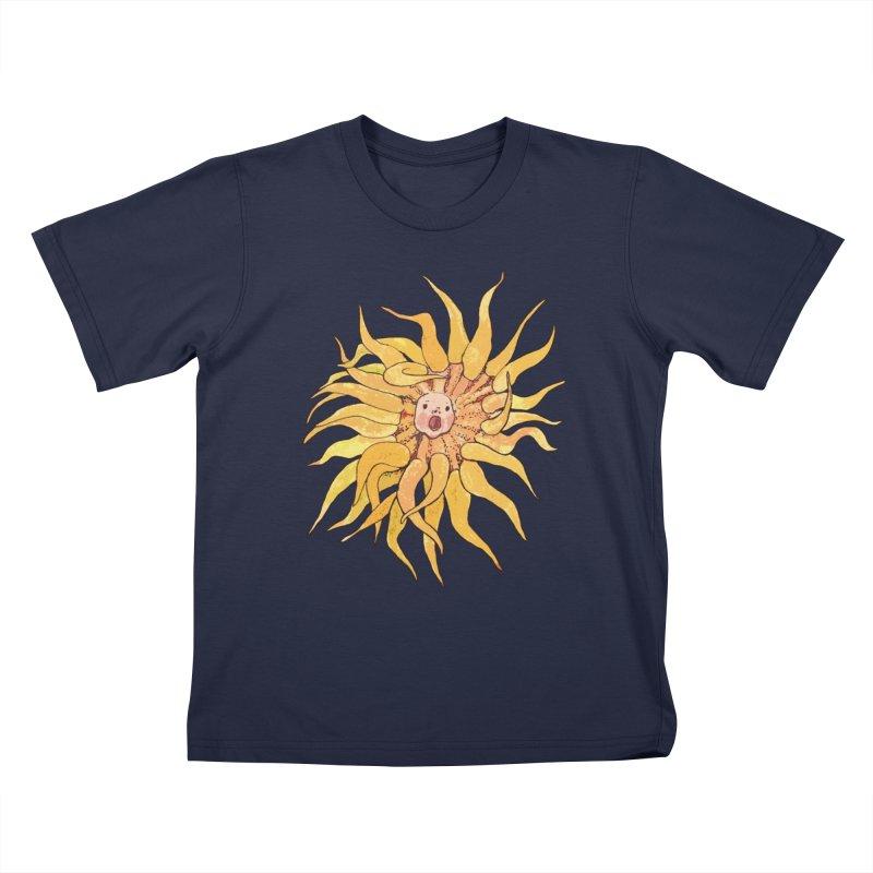 Sea Anemone, Actinia, Marine Creature, Bizarre Surreal Kids T-Shirt by Clipso-Callipso