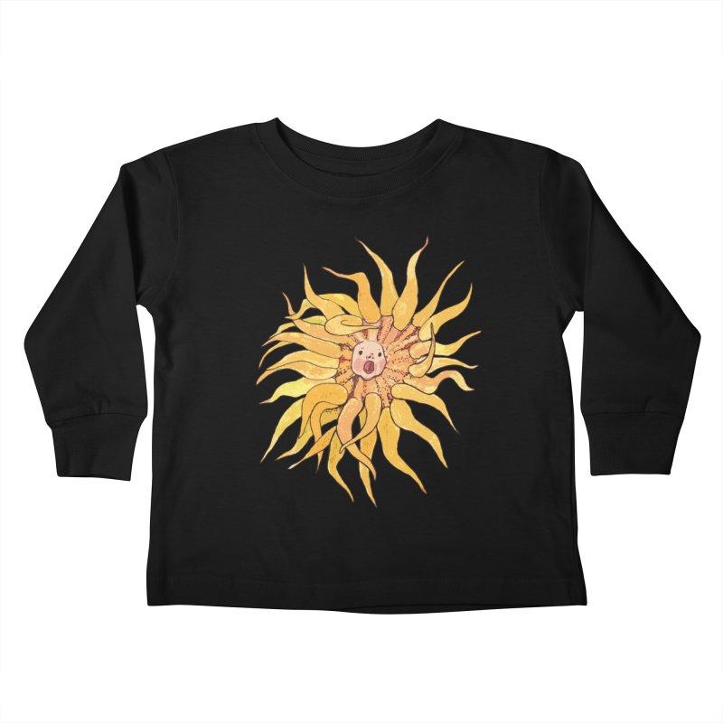 Sea Anemone, Actinia, Marine Creature, Bizarre Surreal Kids Toddler Longsleeve T-Shirt by Clipso-Callipso