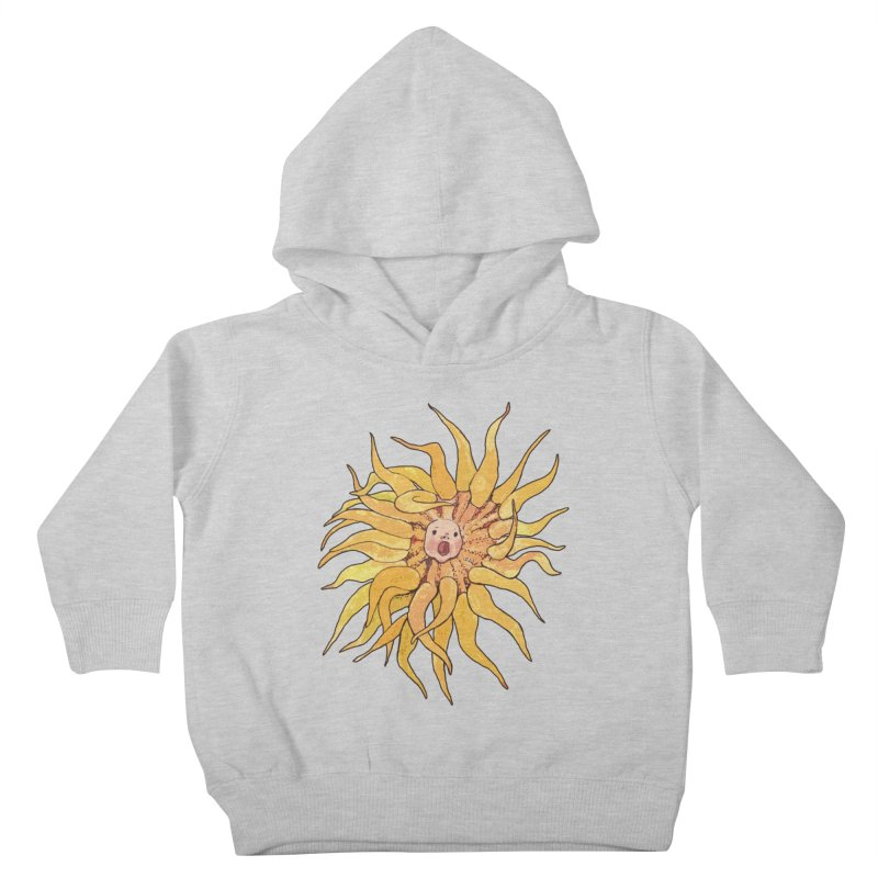 Sea Anemone, Actinia, Marine Creature, Bizarre Surreal Kids Toddler Pullover Hoody by Clipso-Callipso