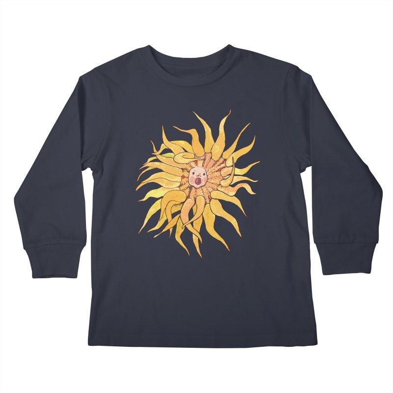 Sea Anemone, Actinia, Marine Creature, Bizarre Surreal Kids Longsleeve T-Shirt by Clipso-Callipso