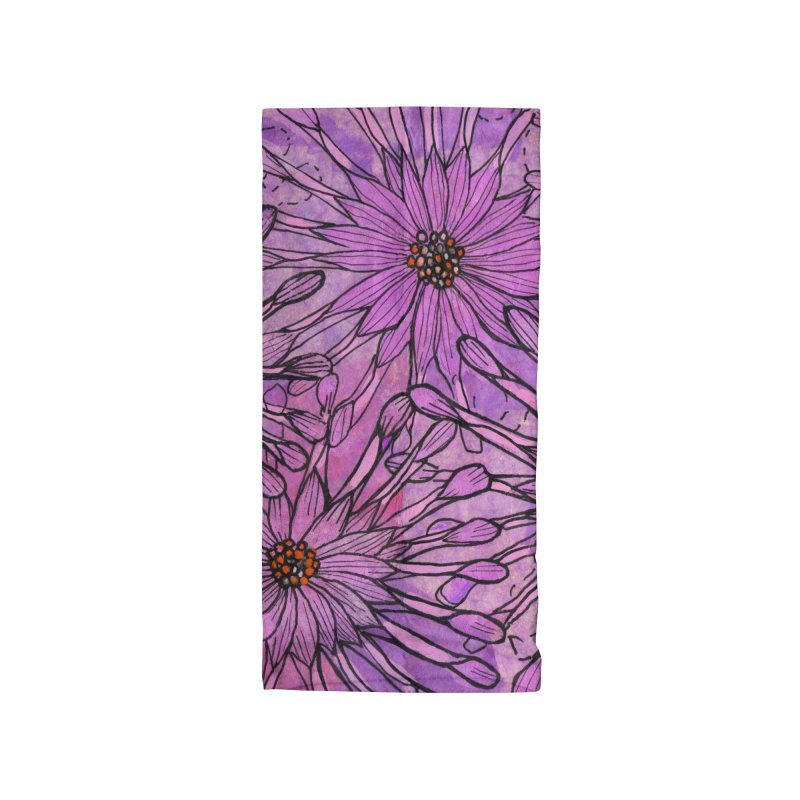 African Daisy, Pink Flowers, Tropical Floral Accessories Neck Gaiter by Clipso-Callipso