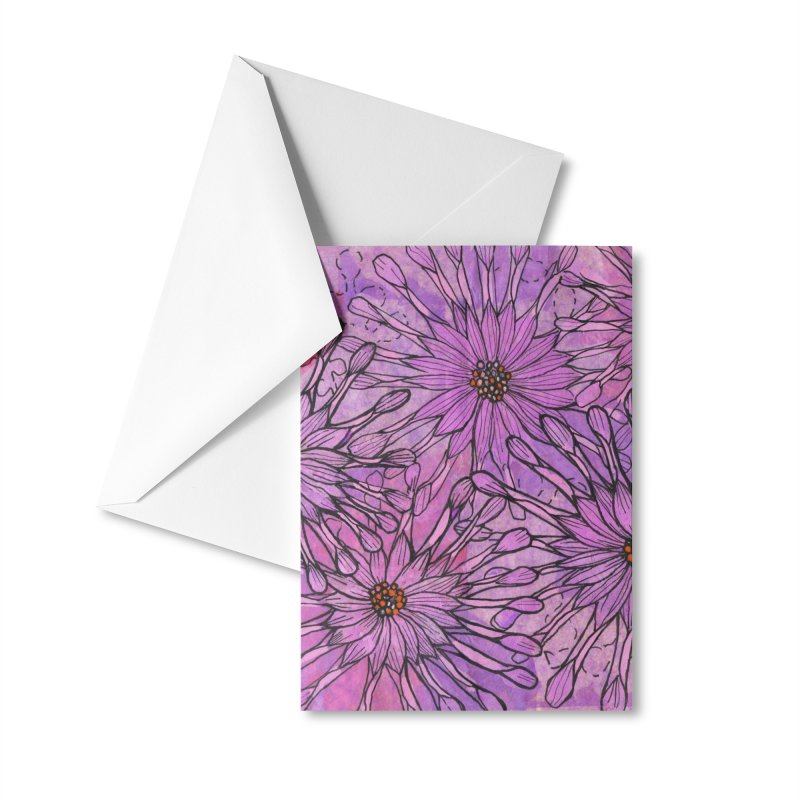 African Daisy, Pink Flowers, Tropical Floral Accessories Greeting Card by Clipso-Callipso