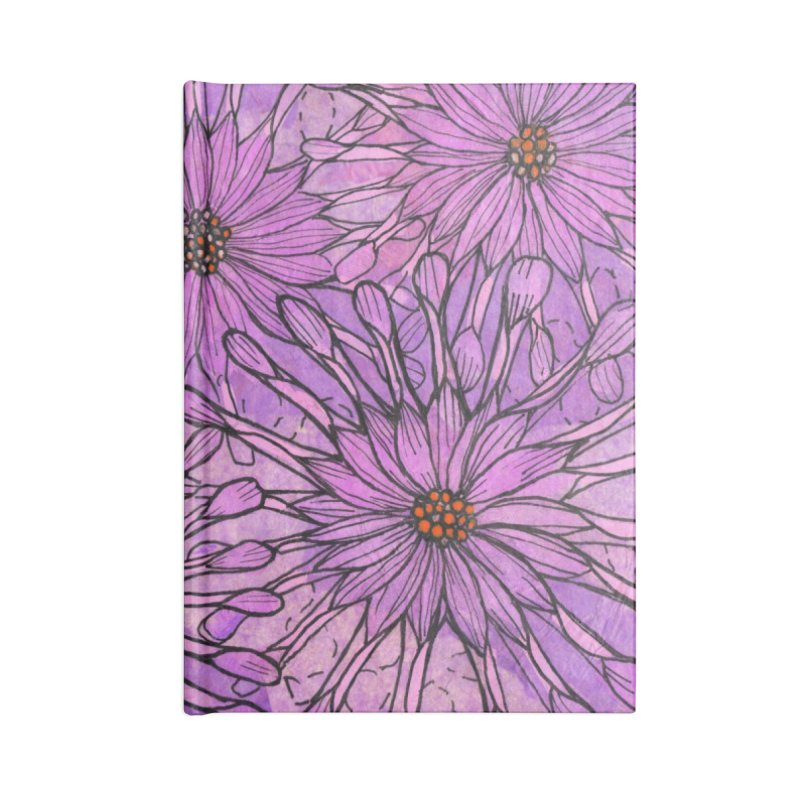 African Daisy, Pink Flowers, Tropical Floral Accessories Notebook by Clipso-Callipso