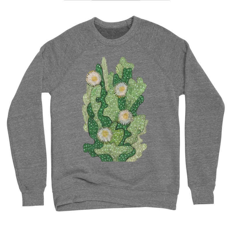 Blooming Cacti, Succulent Flowers, Green White Women's Sweatshirt by Clipso-Callipso