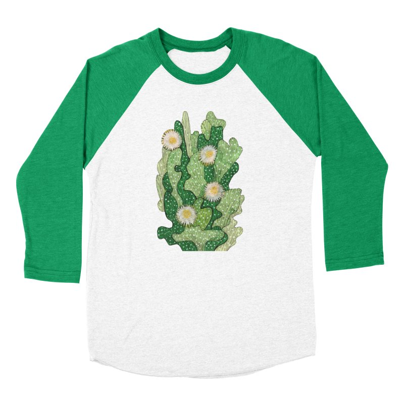 Blooming Cacti, Succulent Flowers, Green White Men's Longsleeve T-Shirt by Clipso-Callipso