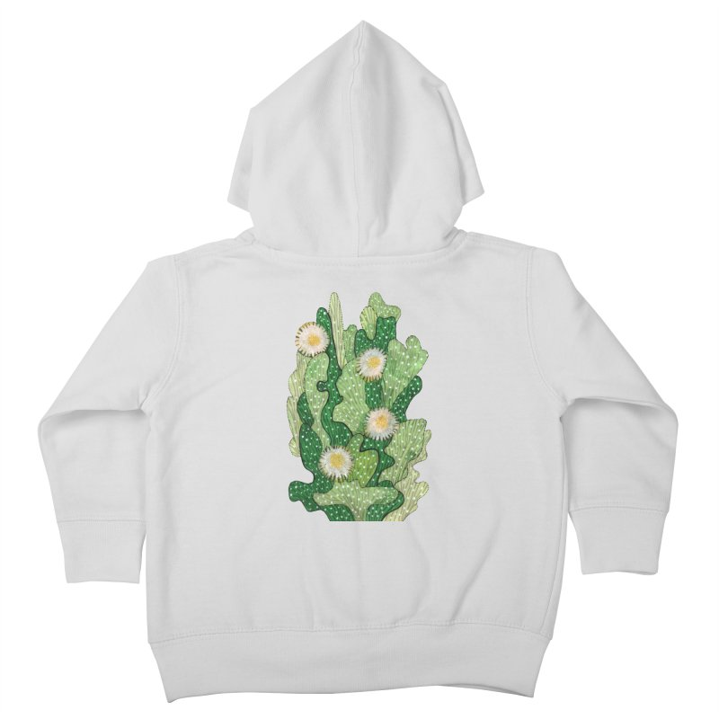 Blooming Cacti, Succulent Flowers, Green White Kids Toddler Zip-Up Hoody by Clipso-Callipso