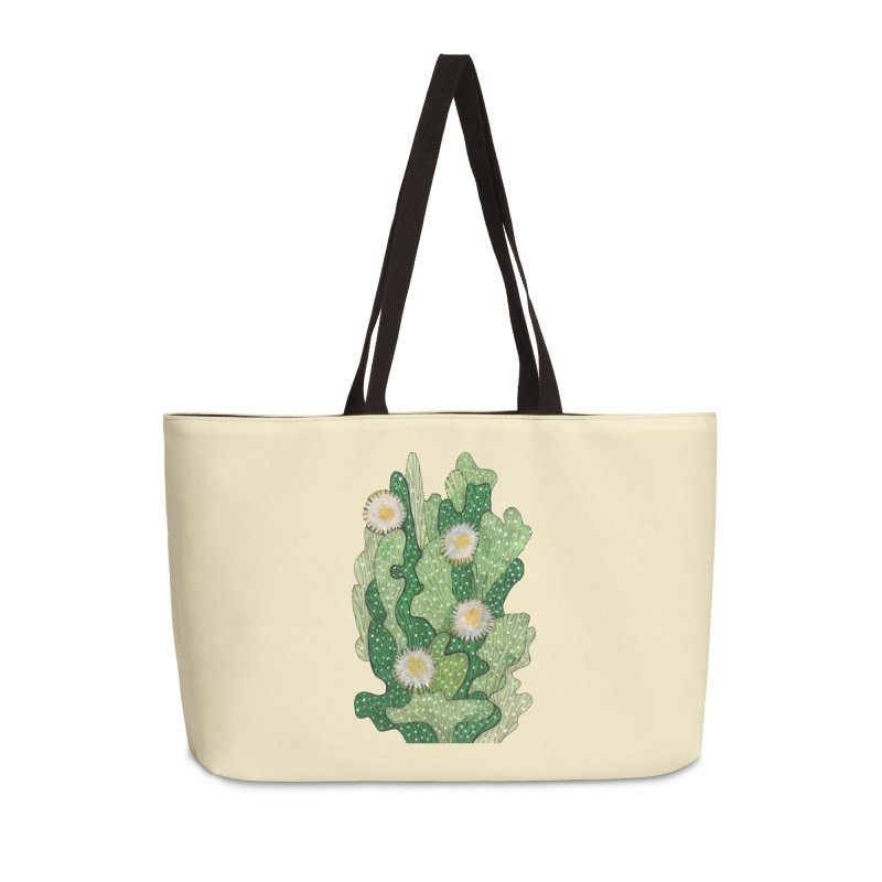 Blooming Cacti, Succulent Flowers, Green White Accessories Bag by Clipso-Callipso