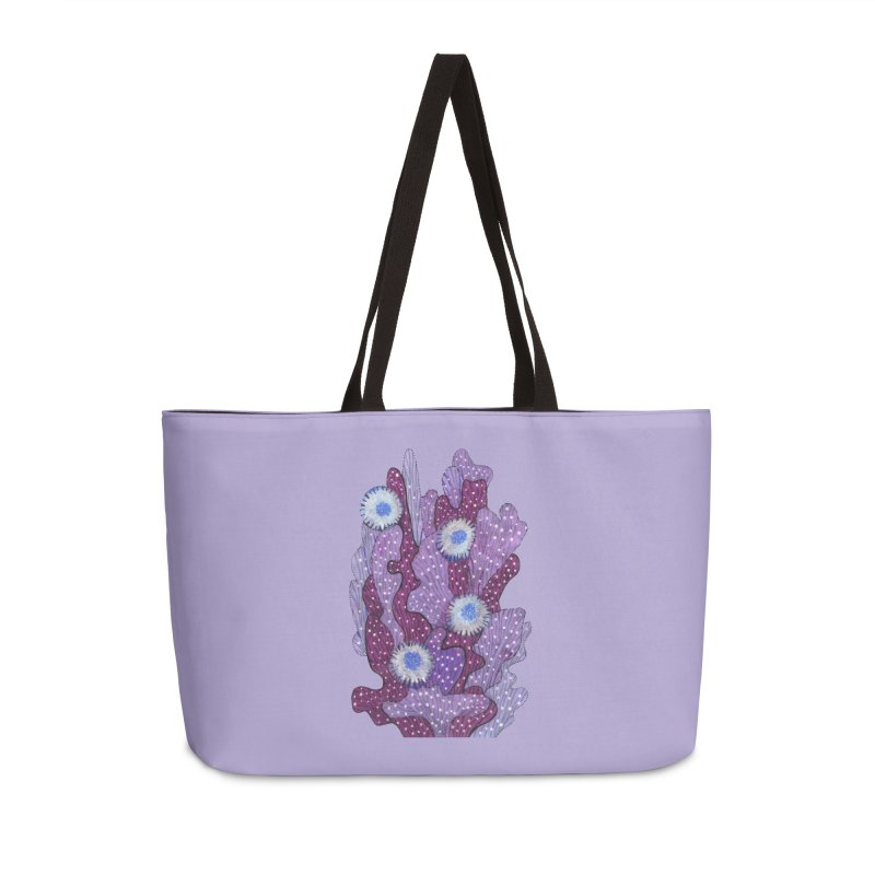 Blooming Cactus, Succulent Flowers, Purple Violet Accessories Bag by Clipso-Callipso