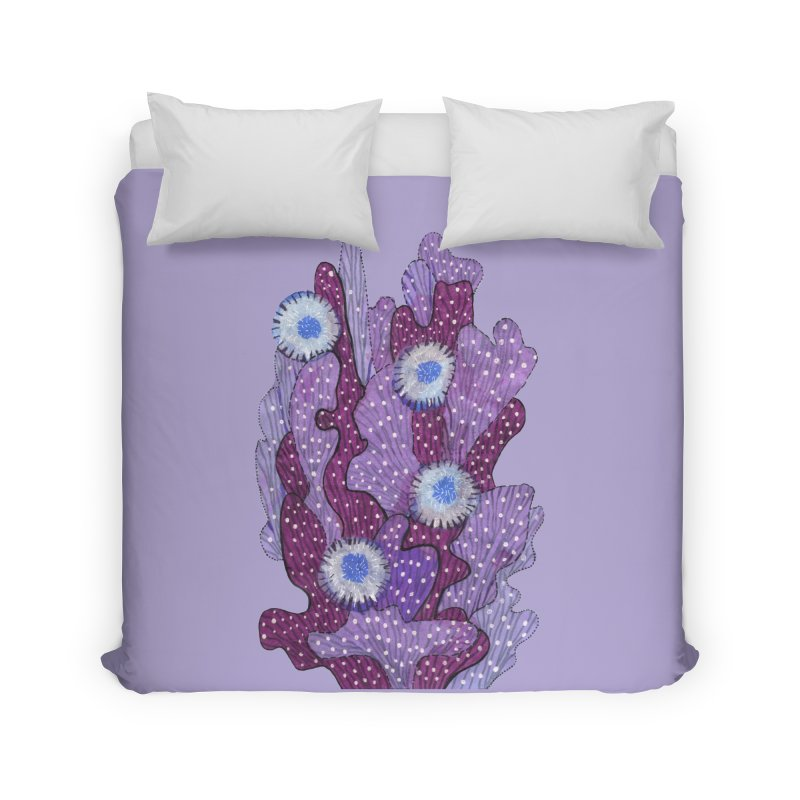 Blooming Cactus, Succulent Flowers, Purple Violet Home Duvet by Clipso-Callipso