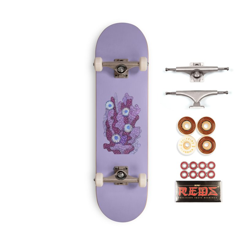 Blooming Cactus, Succulent Flowers, Purple Violet Accessories Skateboard by Clipso-Callipso