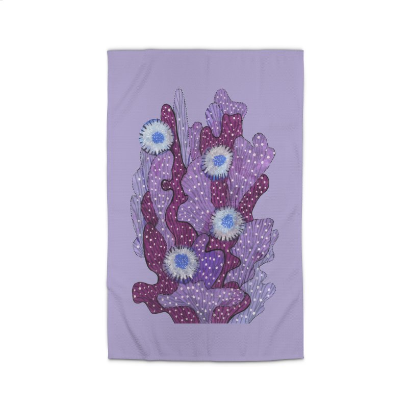 Blooming Cactus, Succulent Flowers, Purple Violet Home Rug by Clipso-Callipso