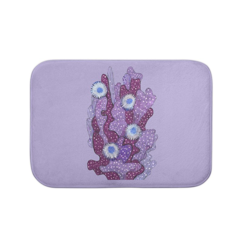 Blooming Cactus, Succulent Flowers, Purple Violet Home Bath Mat by Clipso-Callipso
